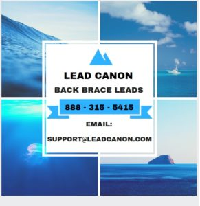 Buy opt in back brace leads private insurance ppo pain lead generation service
